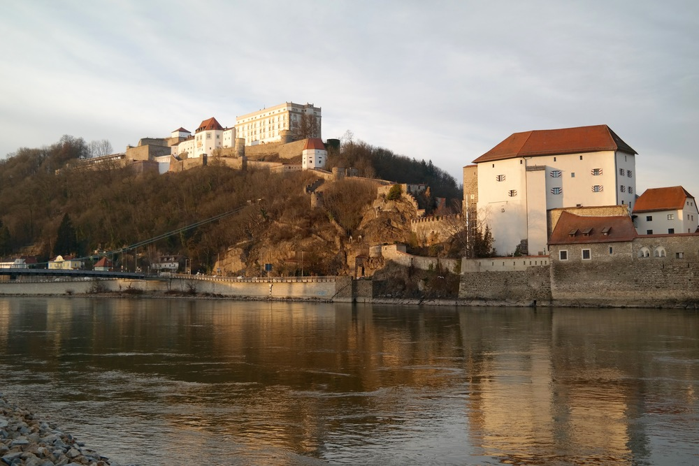 Passau // The Oberhaus sits above the Danube River and overlooks all of Passau. There's a gorgeous view at sunset!