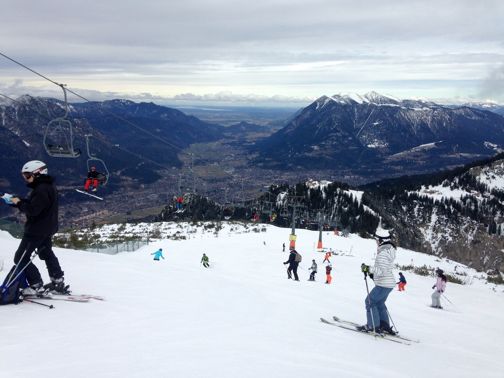 The views from one of the ski slopes--and we weren't even at the top!