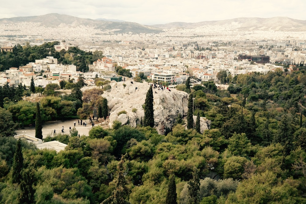 Here is the Areopagus, or Mars Hill. This is the spot where Paul preached to the Greeks in Acts 17. It was so cool to sit there and read that passage, imagining what it was like so many hundreds of years ago.