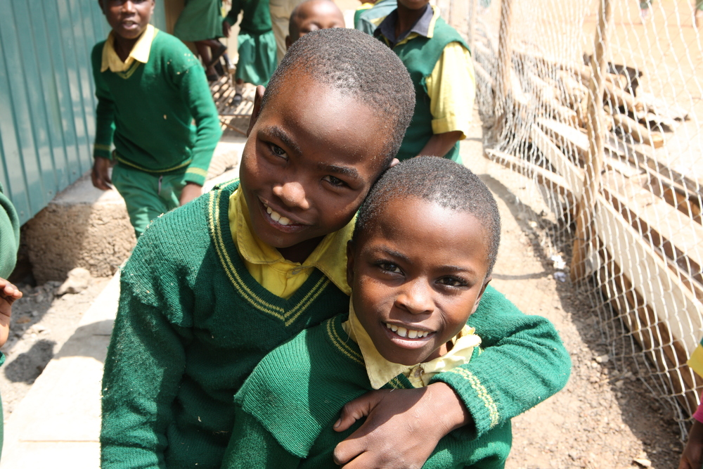 Two brothers from the Ruben Primary Education Centre