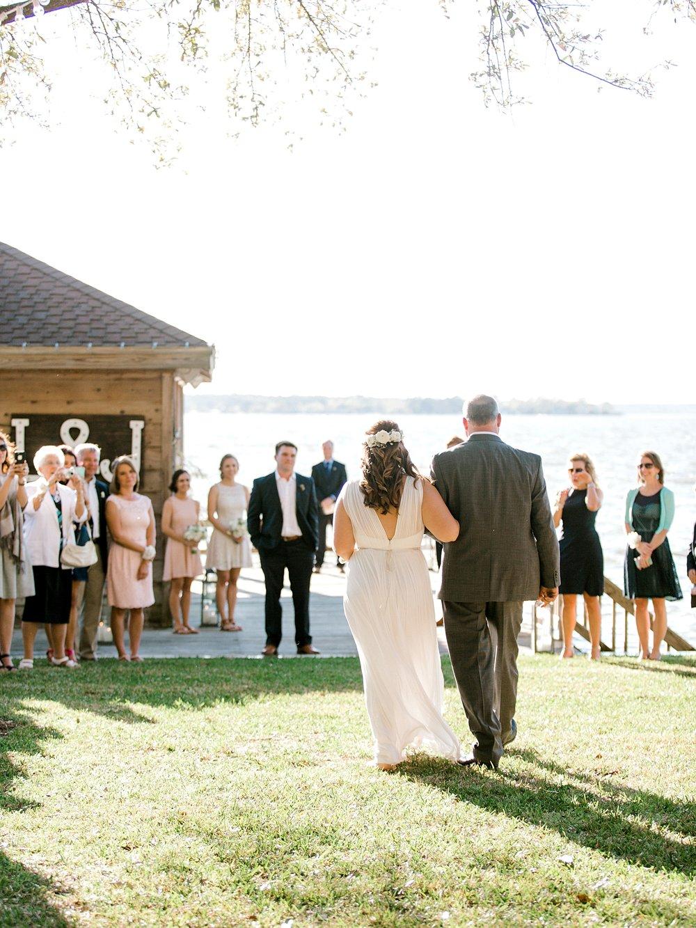 Lake Conroe Backyard Wedding