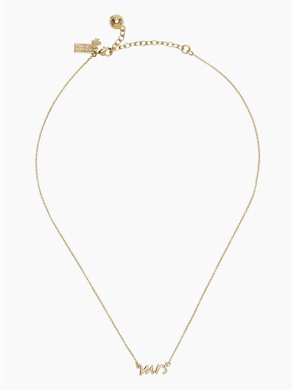 Say Yes Mrs Necklace Kate Spade