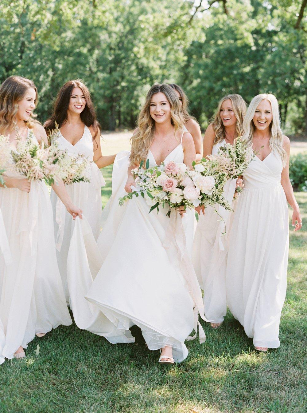 White Bridesmaid Dresses White Sparrow Barn