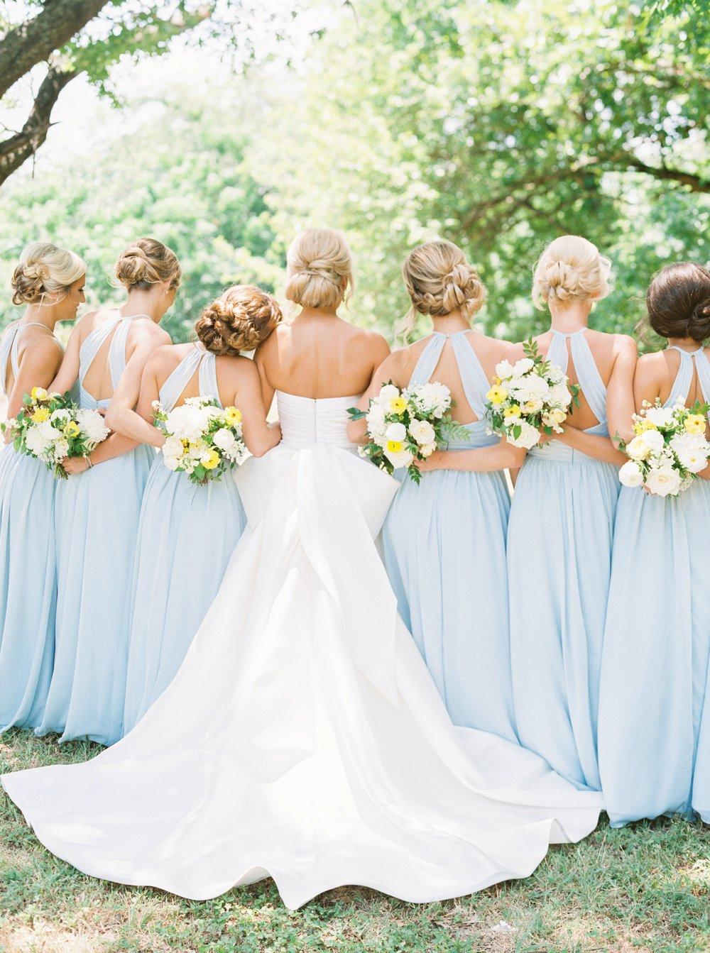 Dove Ridge Vineyard Wedding, Blue Bridesmaid Dresses