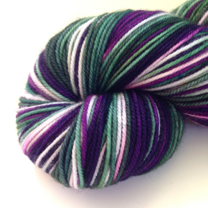 Enchanted Forest (in Frolic Sport)- bright and deep purple with light gray and dark pine green