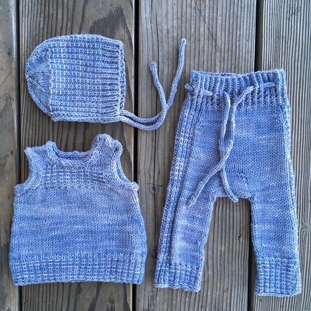My little layette is all done and blocked- the vest just needs a couple of buttons 😍. . Patterns are Little Bonnet, Little Vest or Dress, and Little Leggings by @frogginette, Yarn is my Rustic Worsted in Iced Plum v2. . #fo #layette #handmadebabyclothes #knitting #imperfectlyperfect #nofilter #sunrisefiberco #handdyedyarn #frogginette #newbornclothes #knittersofinstagram #mamahood #2018knittinggoals #project5 #clothdiapering #longies #woolclothes