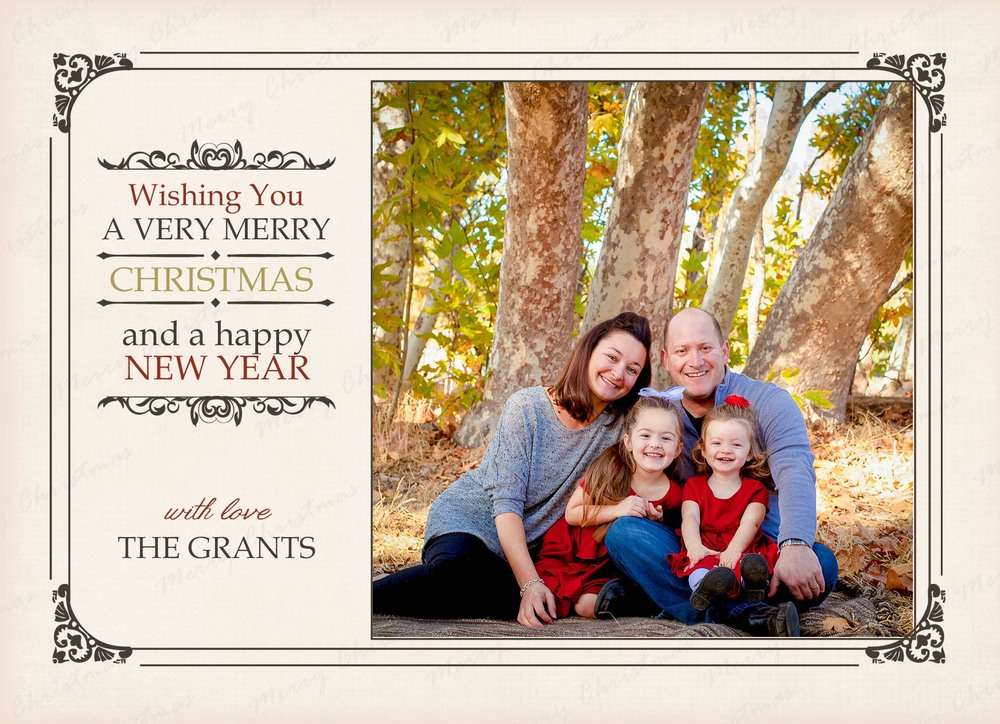I offer one basic package for all the family holiday card sessions which includes one high resolution digital image of your favorite image and 25 5x7