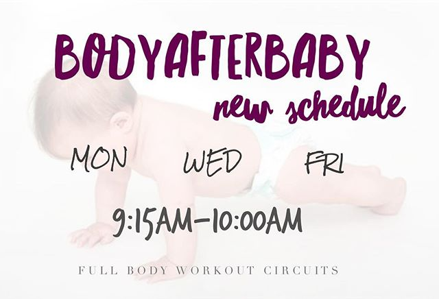 Beginning next week we are offering more classes! BodyAfterBaby mornings are perfect for mamas that want to get a great full body exercise consistently without having to leave their babies with a sitter. Join our instructor Jennifer Swanson every Monday, Wednesday and Friday 9:15am-10:15am. See you in studio soon, mamas! Babies welcome 👶🏻 $120 for a 10 Class Pass or $15 Per Class. Sign up on mindbody or DM for direct link to register 💗 #bodyafterbaby #fullbodyworkout #babieswelcome
