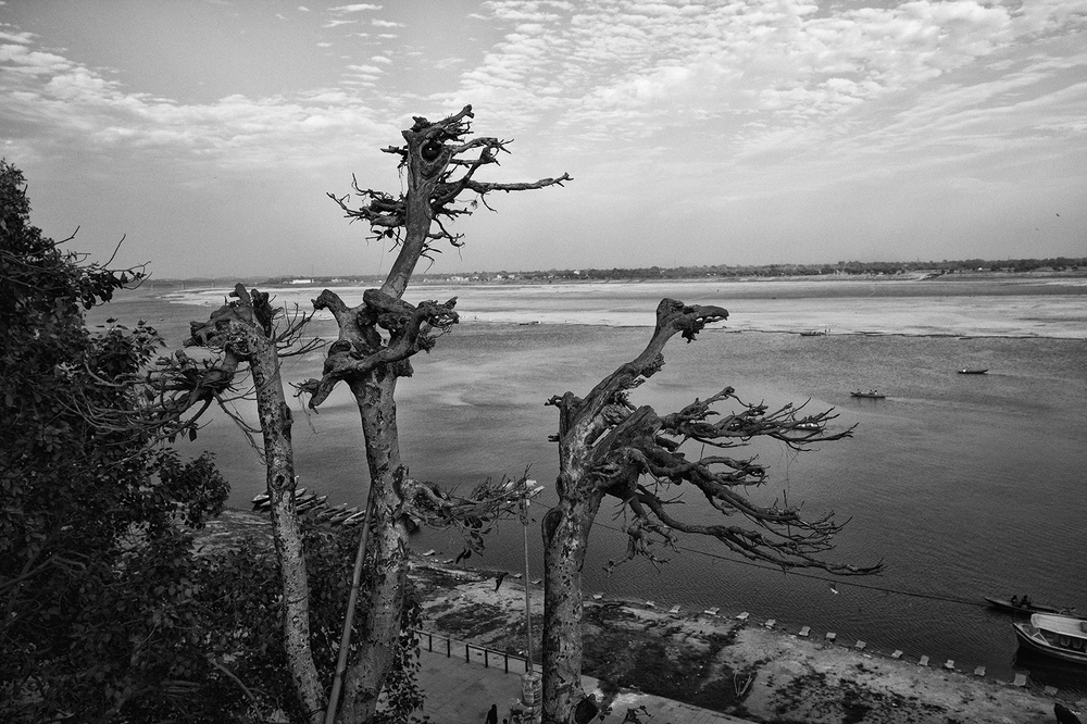 """View from the Roof of Eden Halt"" Varanasi, India.   photo copyright : Russell Shakespeare"