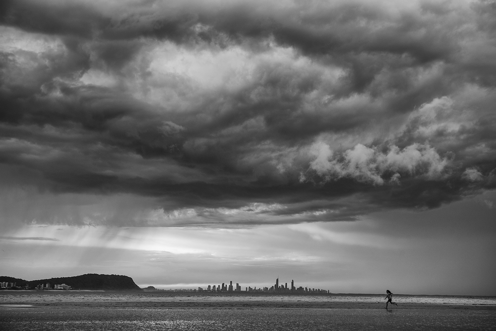 """""""Storm over Currumbin""""     photo copyright : Russell Shakespeare 2015"""