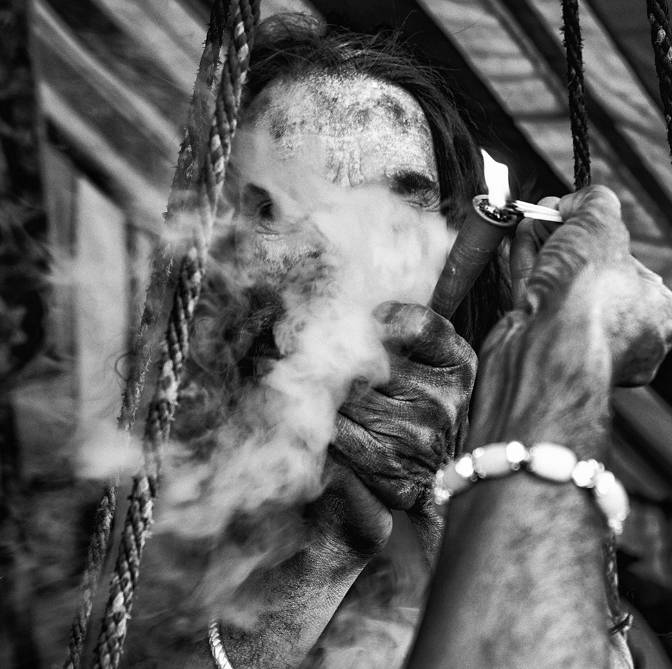 """Smoking Baba, Haridwar, India""                                                     © Russell Shakespeare 2016"