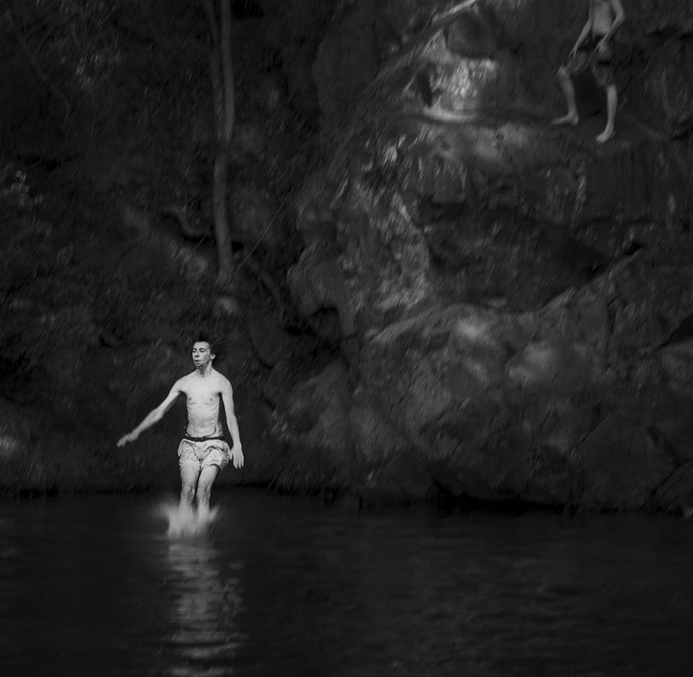"""Jumper"" Currumbin Valley Rock Pool              © Russell Shakespeare 2016"
