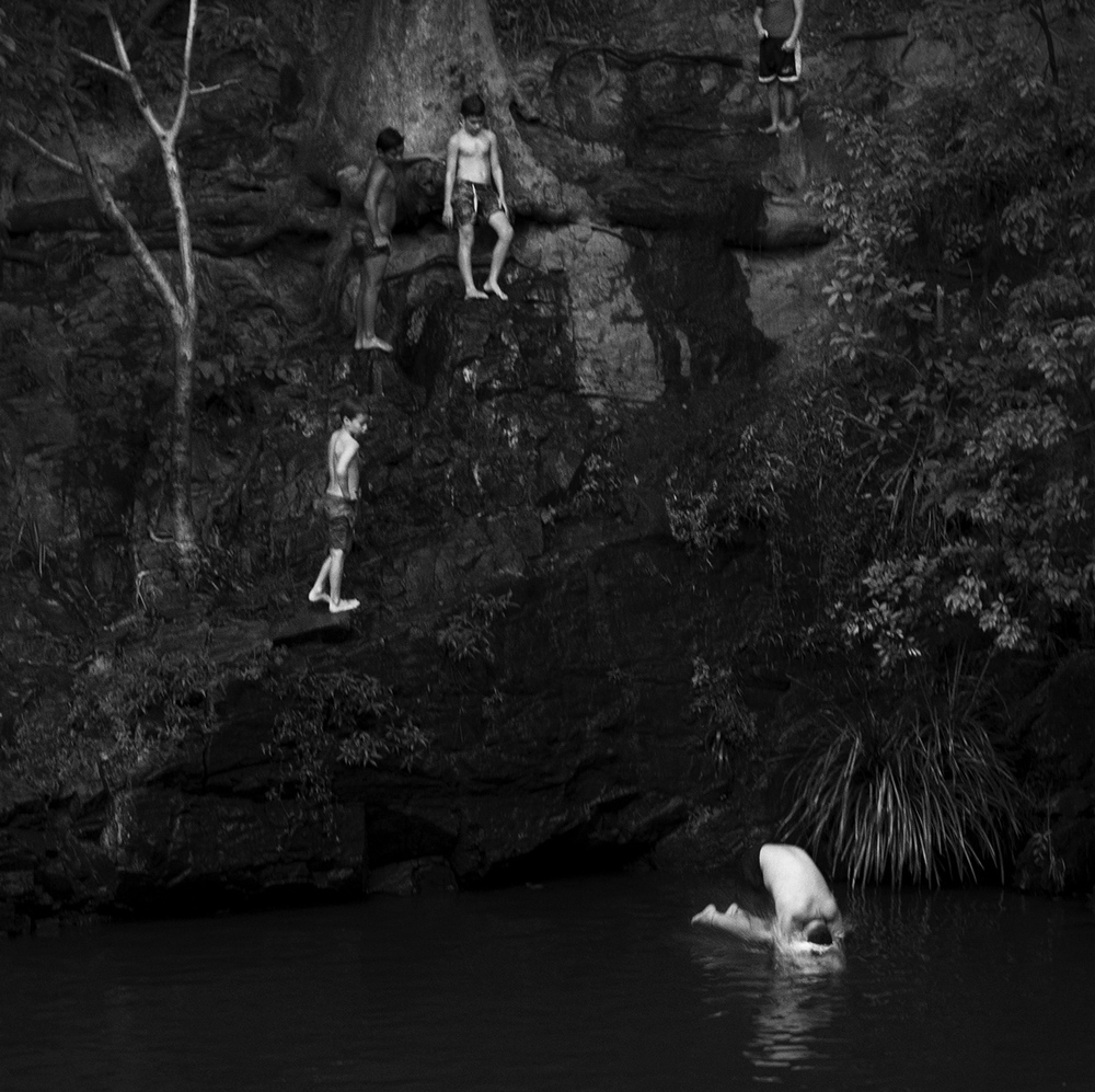 """Jumper""   Currumbin Valley Rock Pool     © Russell Shakespeare 2016"