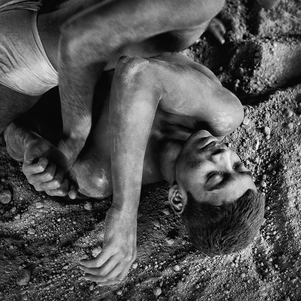 """Wrestlers, Varanasi, India""                 © Russell Shakespeare 2016"