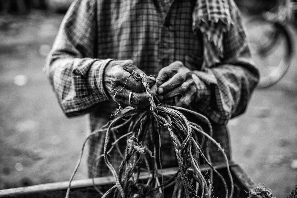 """""""Worker, Varanasi, India"""" .                                  ©Russell Shakespeare 2017"""