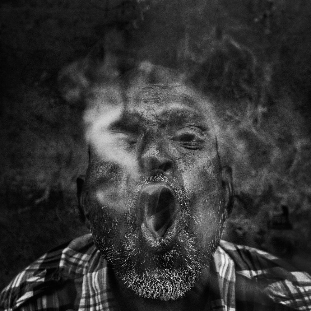 """Smoker"" Varanasi, India                                   ©Russell Shakespeare 2017"