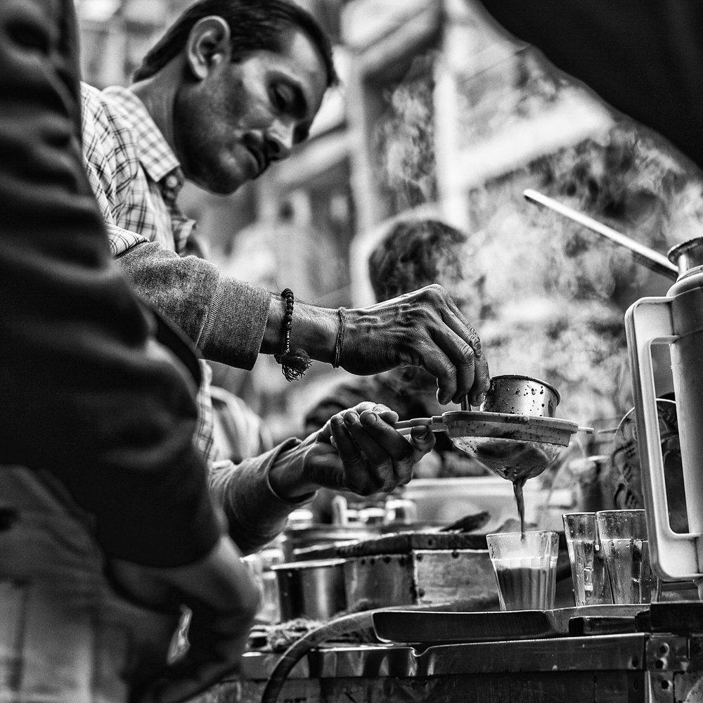 Chai Master, New Delhi, India                      ©Russell Shakespeare 2017
