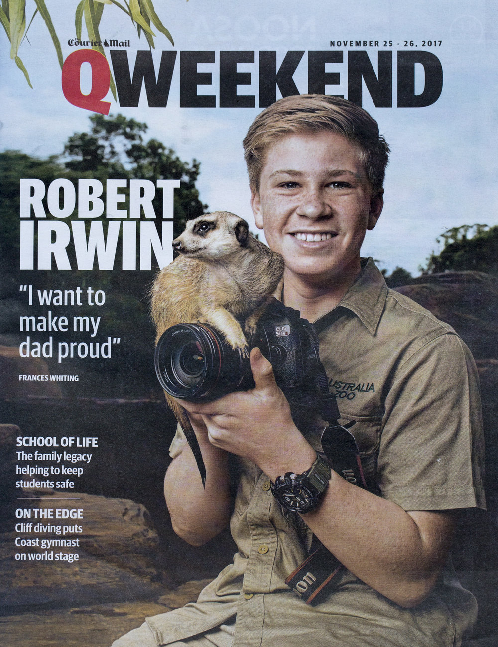 Robert Irwin for Q Weekend Magazine