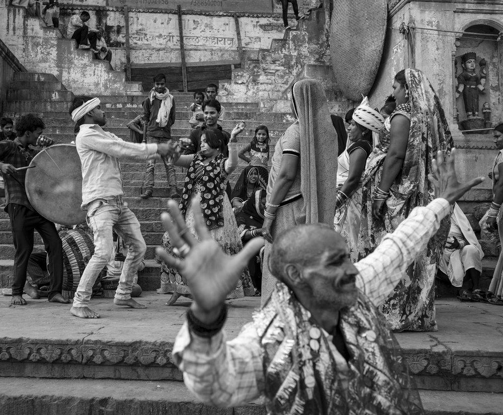 """The Wedding Party"" Varanasi, India                      © Russell Shakespeare 2018"