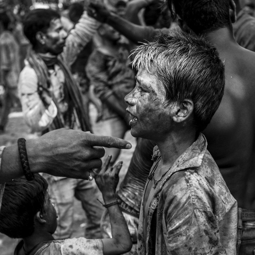 """""""Holi Festival, Varanasi""""                               © Russell Shakespeare 2018"""