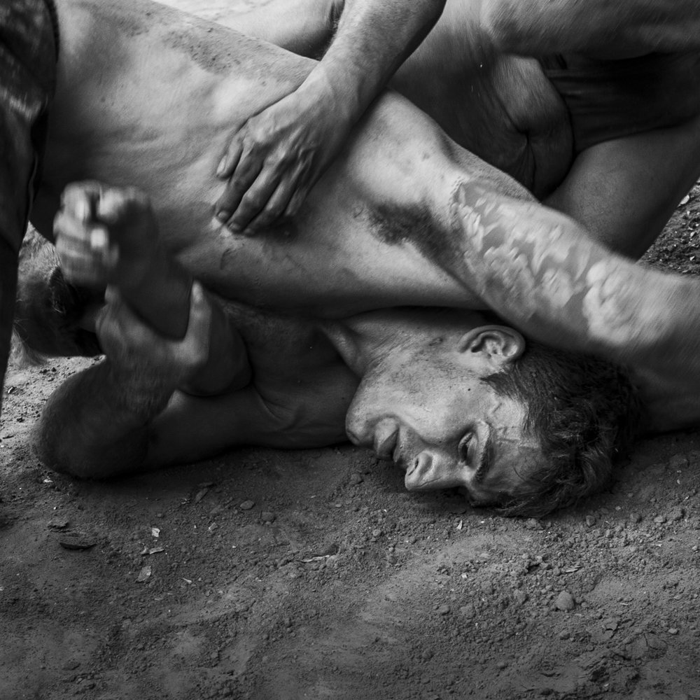 """""""Wrestlers, Varanasi, India""""                               © Russell Shakespeare 2018"""
