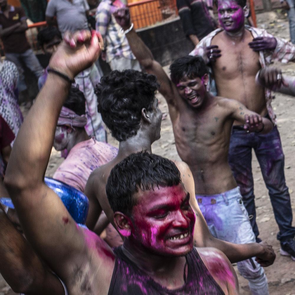"""""""Holi Festival, Varanasi, India""""                      © Russell Shakespeare 2018"""