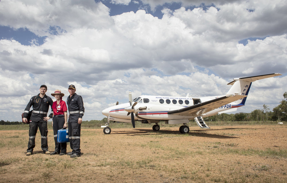 The Royal Flying Doctor Service, Qld, Australia.