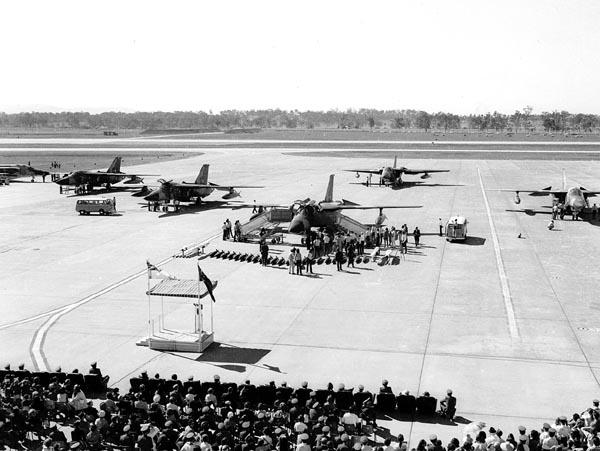 F-111 Welcome Ceremony, 1973, RAAF Amberley. Source