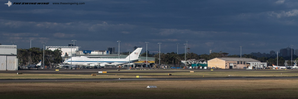 USAF E-4B at the Sydney General Aviation Apron