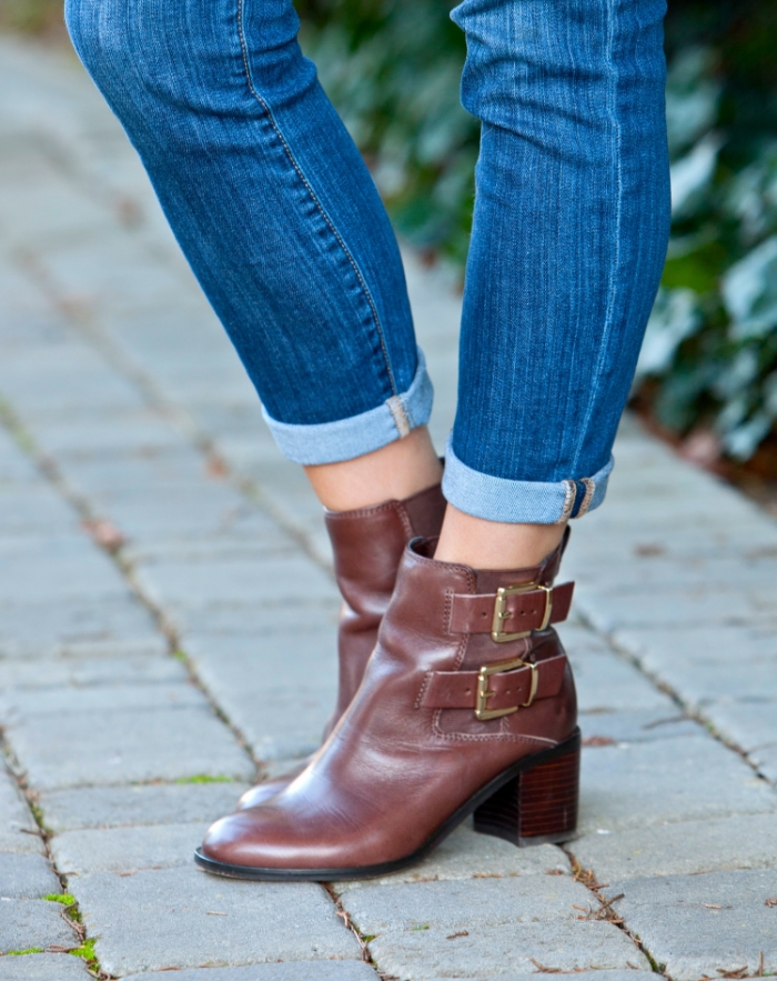 Sam Edelman brown ankle boots