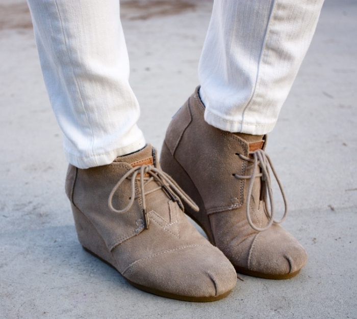 "TOMS ""desert"" wedge booties"