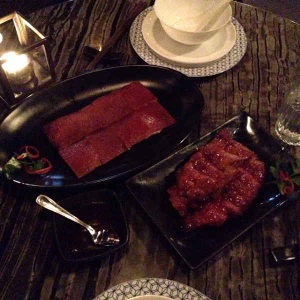 Mott 32's Iberico pork cha siu and suckling pig…melts in your mouth.