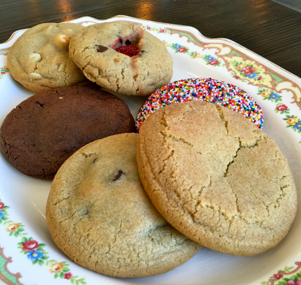 A giant plate of warm cookies!