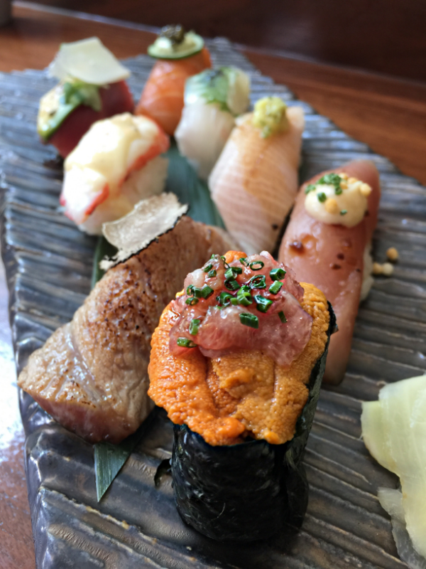 Roku Signature Style Sushi. Matsu (eight piece nigiri selection)