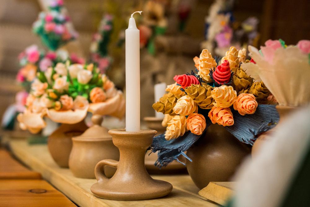 Ozdoby na stole weselnym - fotograf Marcin Górski