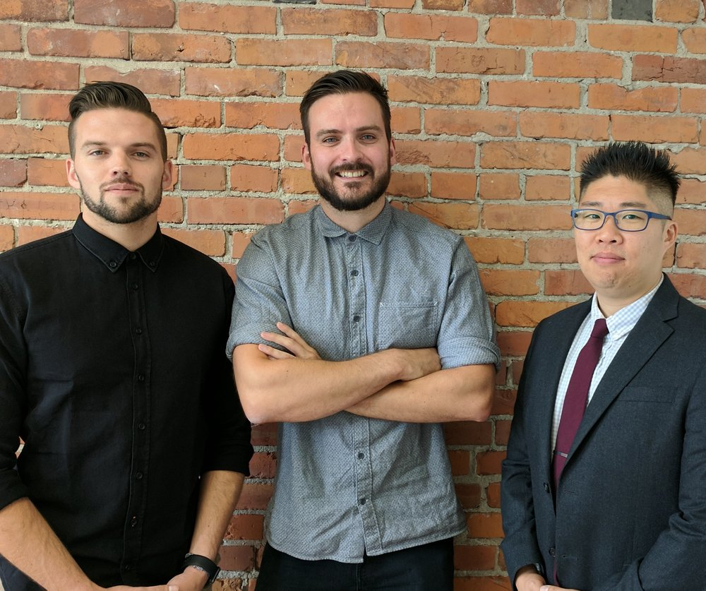 Photo of the cofounders: Andrew Allison, Chris Brownridge and Tony Chong