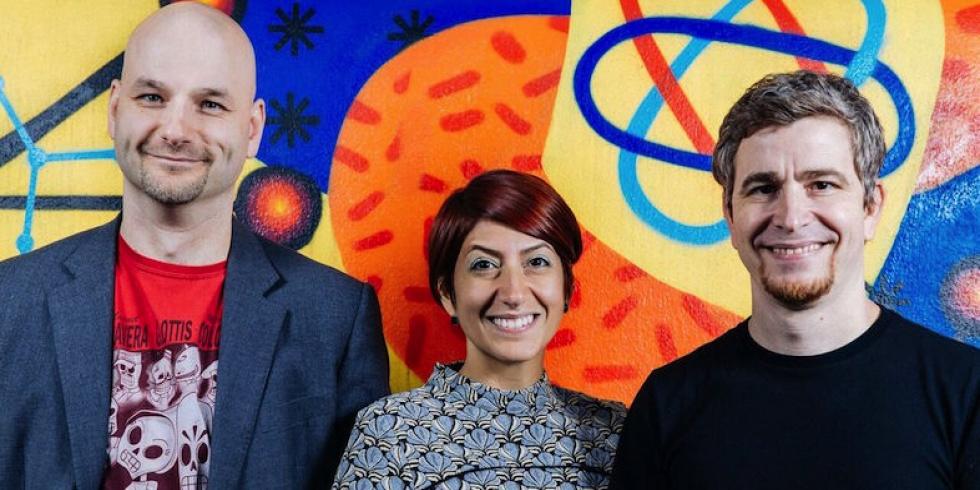 Bossa Studios co-founders, Imre Jele, Roberta Lucca, Henrique Olifiers