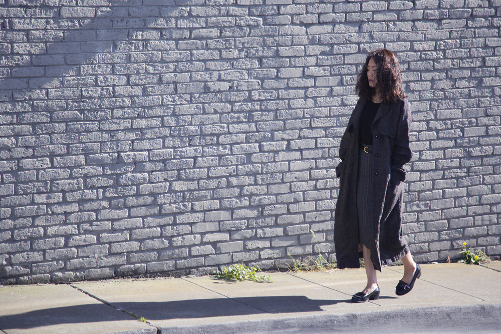 In this photo:   H&M  trench coat