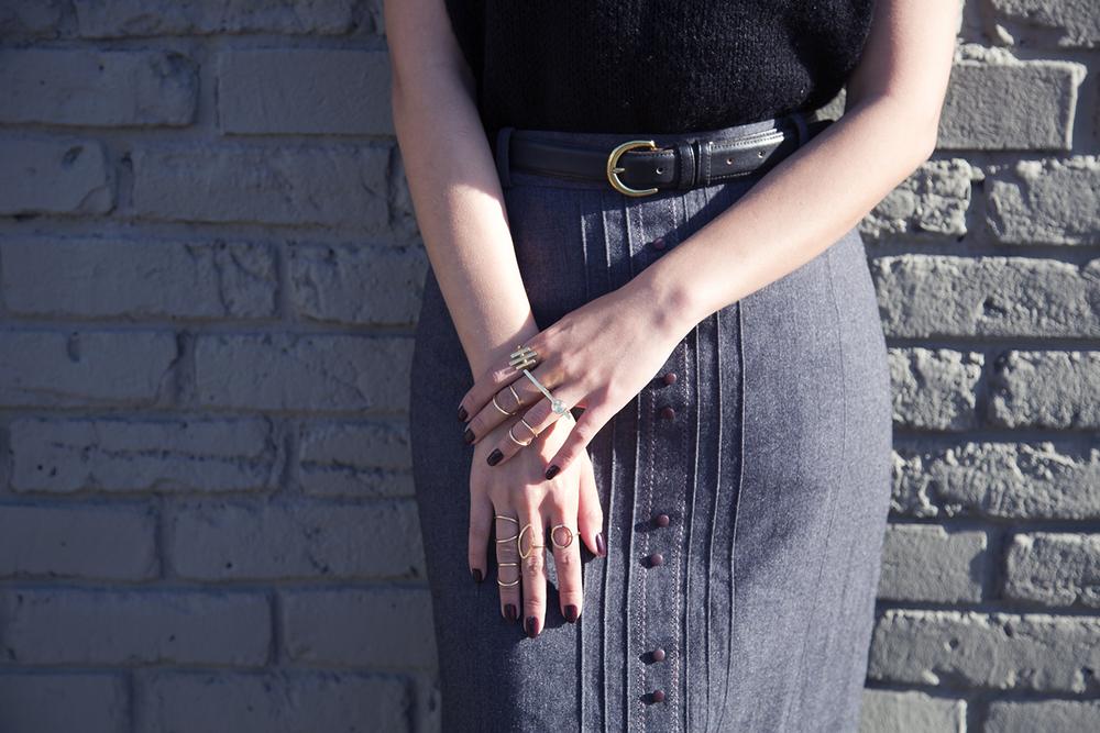 In this photo:   H&M ,  Pamela Love  rings