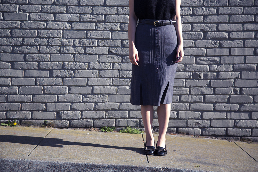 In this photo:   Vintage skirt - grandmother's closet