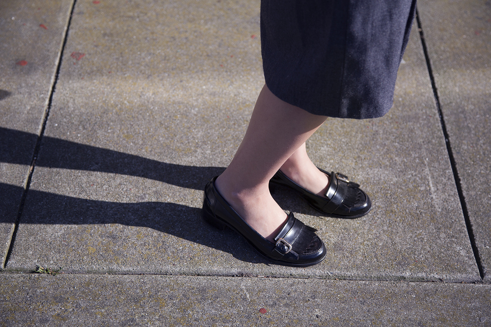 In this photo:   Carvela loafers