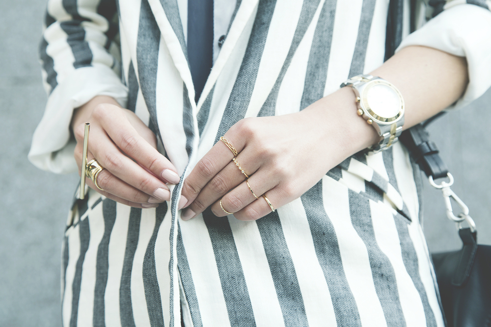 In this photo:   MbMJ  watch /  New Look  rings /  Cheap Monday  bar ring