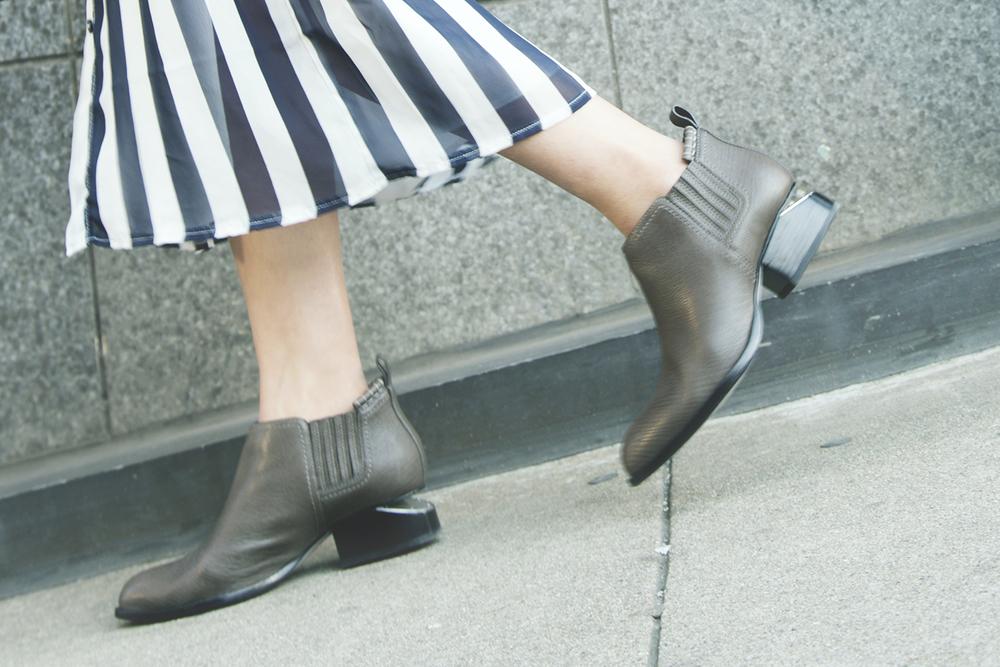 In this photo:   AWang  boots - Kori