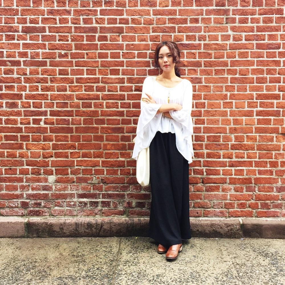 Asos  top & boots,  Zara  trouser,  Lower East , photo by  Soyoen