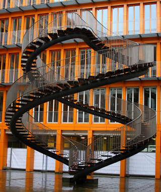 Double-helix staircase in Umschreibung, Munich, Germany (C) Alfredo Jones