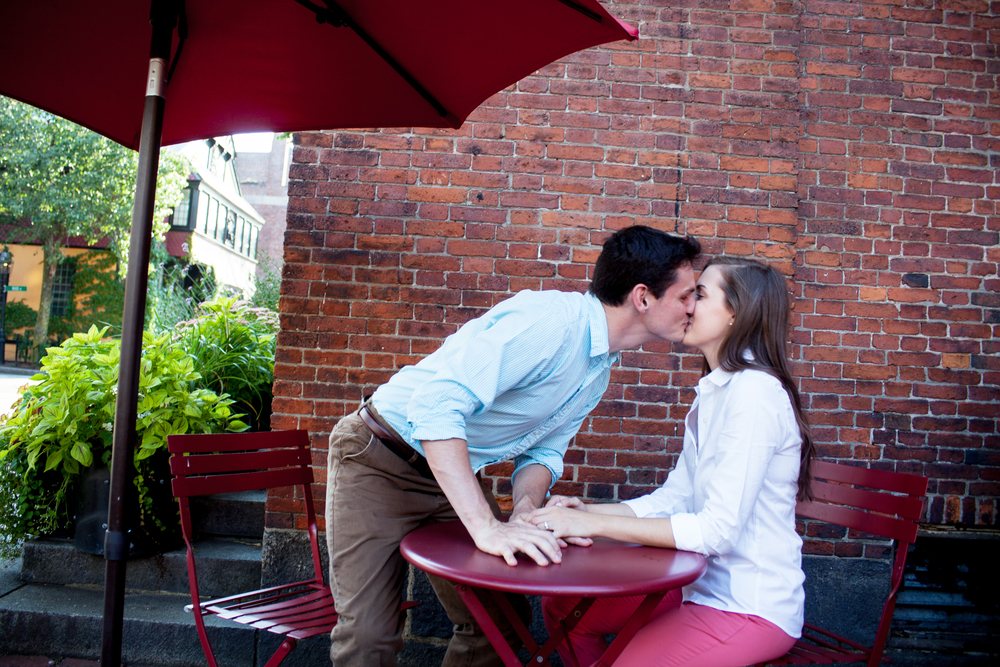 Engagement Session Boston Charles St