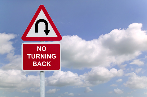 Rtimages|Dreamstime.com-No Turning Back Sign In The Sky Photo