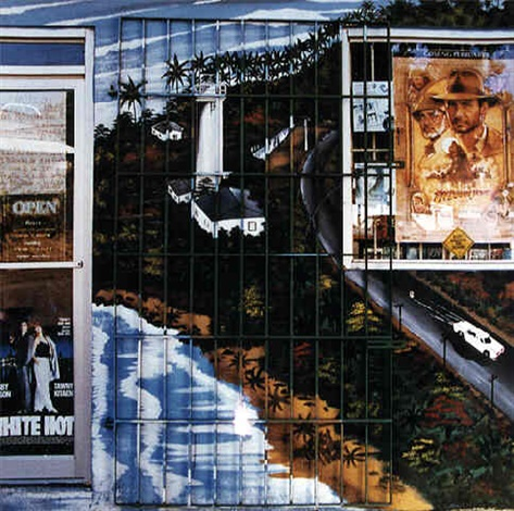 Rafael Goldchain,  Mural with Bars and Indiana Jones