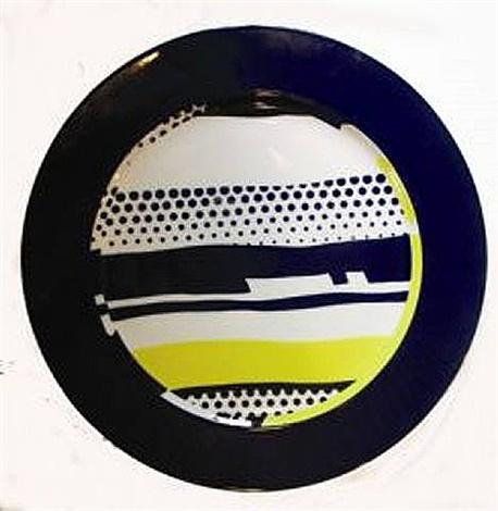 Roy Lichtenstein,Lichtenstein Plate (Untitled),1990