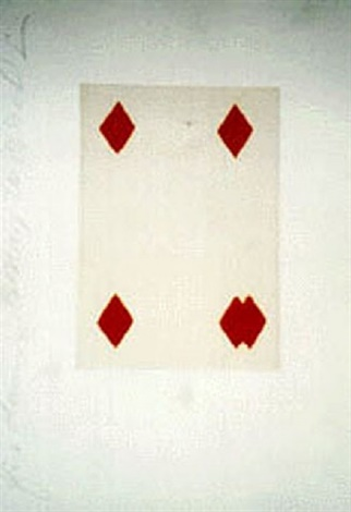 Donald Sultan,  Playing Cards 5 Diamonds
